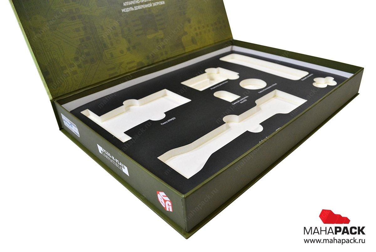 Кашированная коробка с поролоновым ложементом
