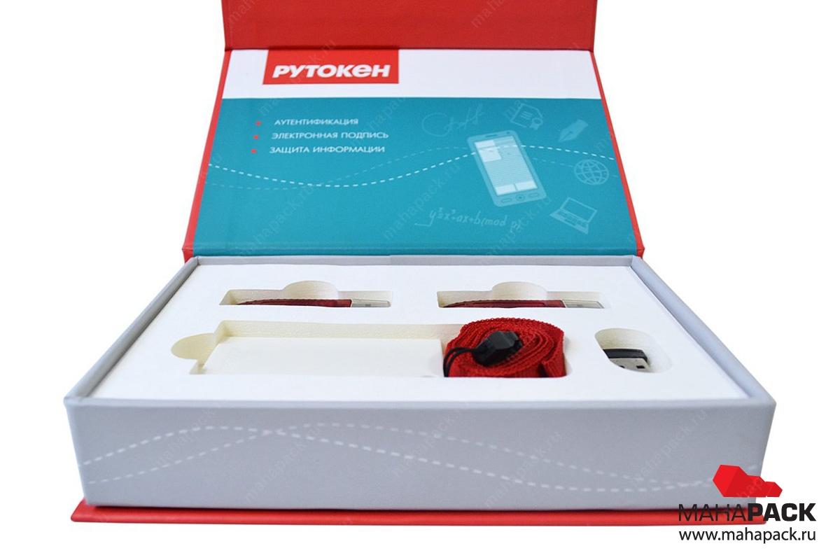 Коробка на магните с ложементом для флешек