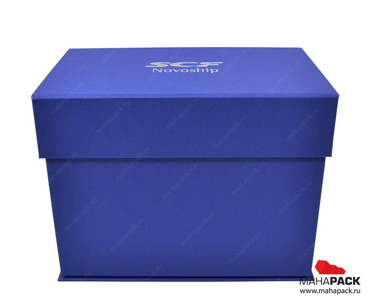Кашированная коробка на магните под заказ