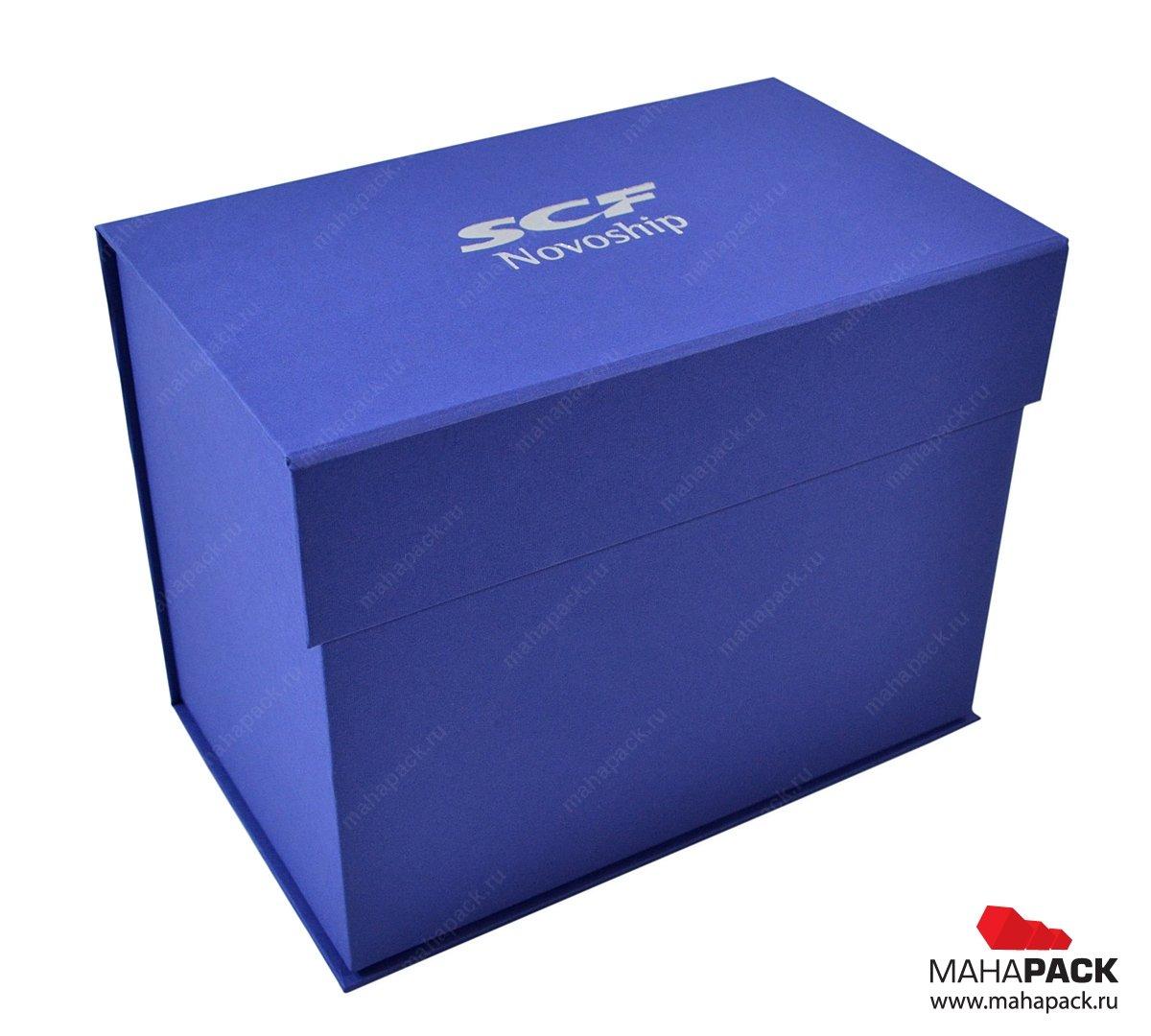 Кашированная коробка с клапаном на магните для сувенира