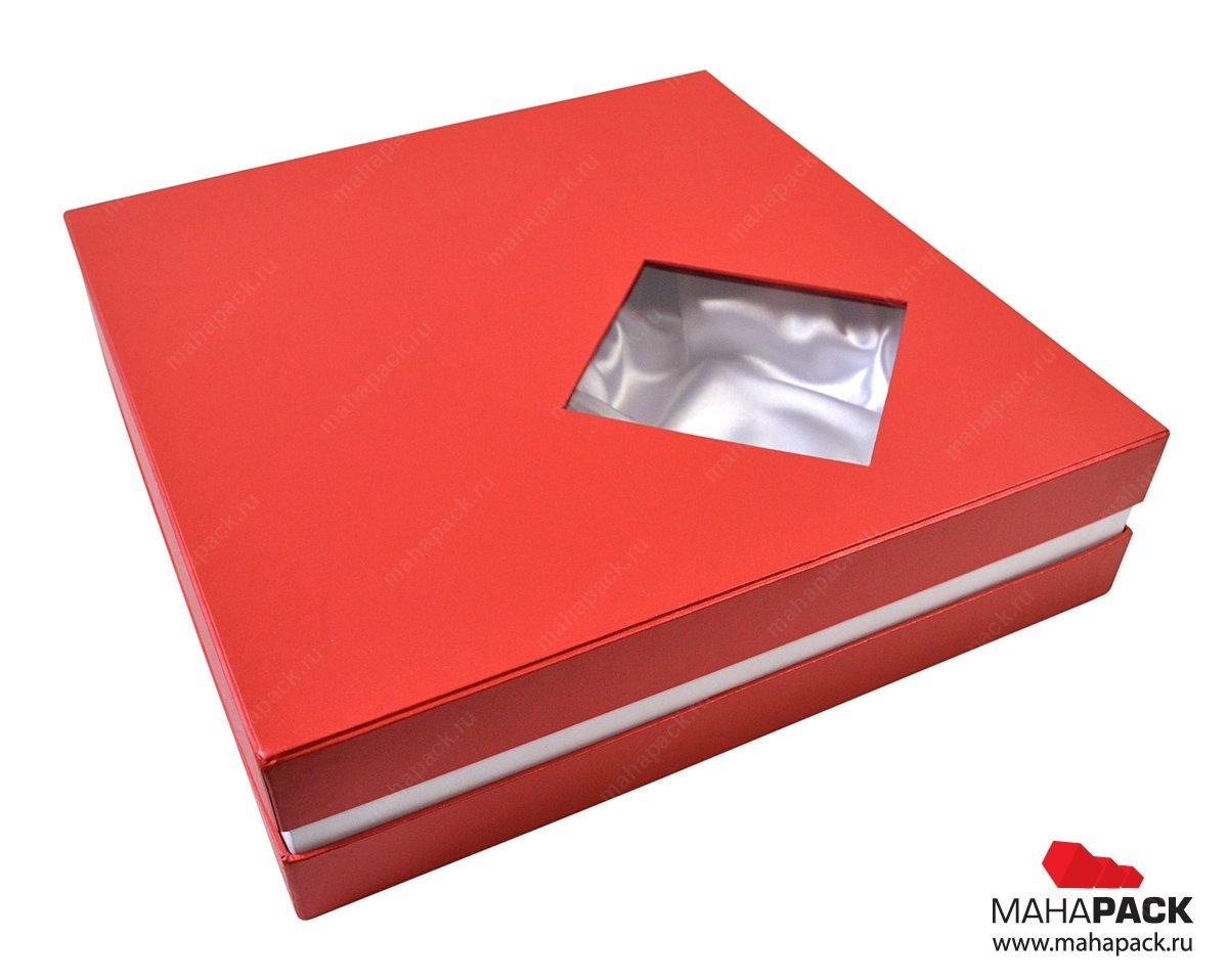 Кашированные коробки с прозрачным окошком