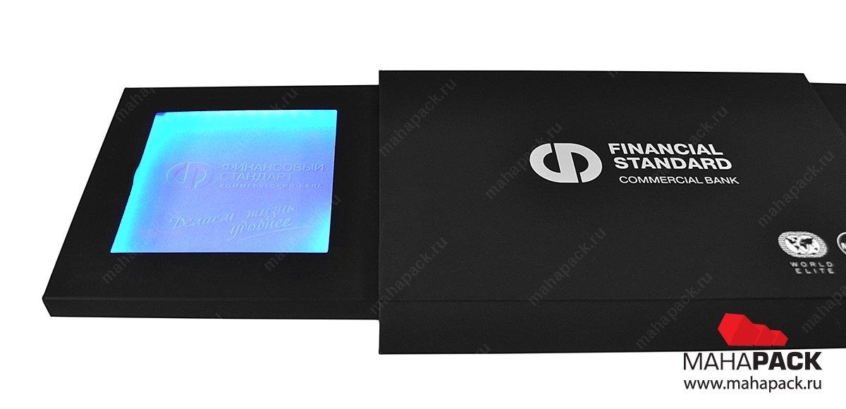 Креативная упаковка с подсветкой для пластиковых карт