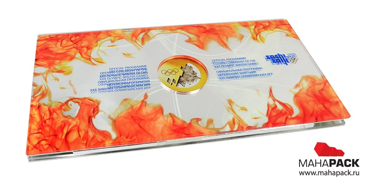 Креативная упаковка из комбинированных материалов для двух дисков и буклета