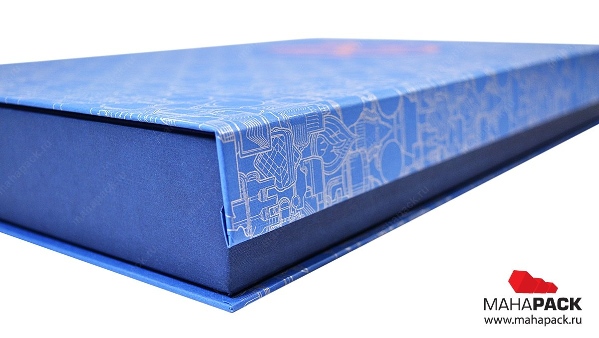 Заказать коробку для книги из дизайнерских материалов