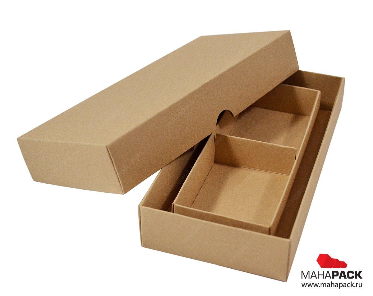 Коробка крышка дно из крафт картона