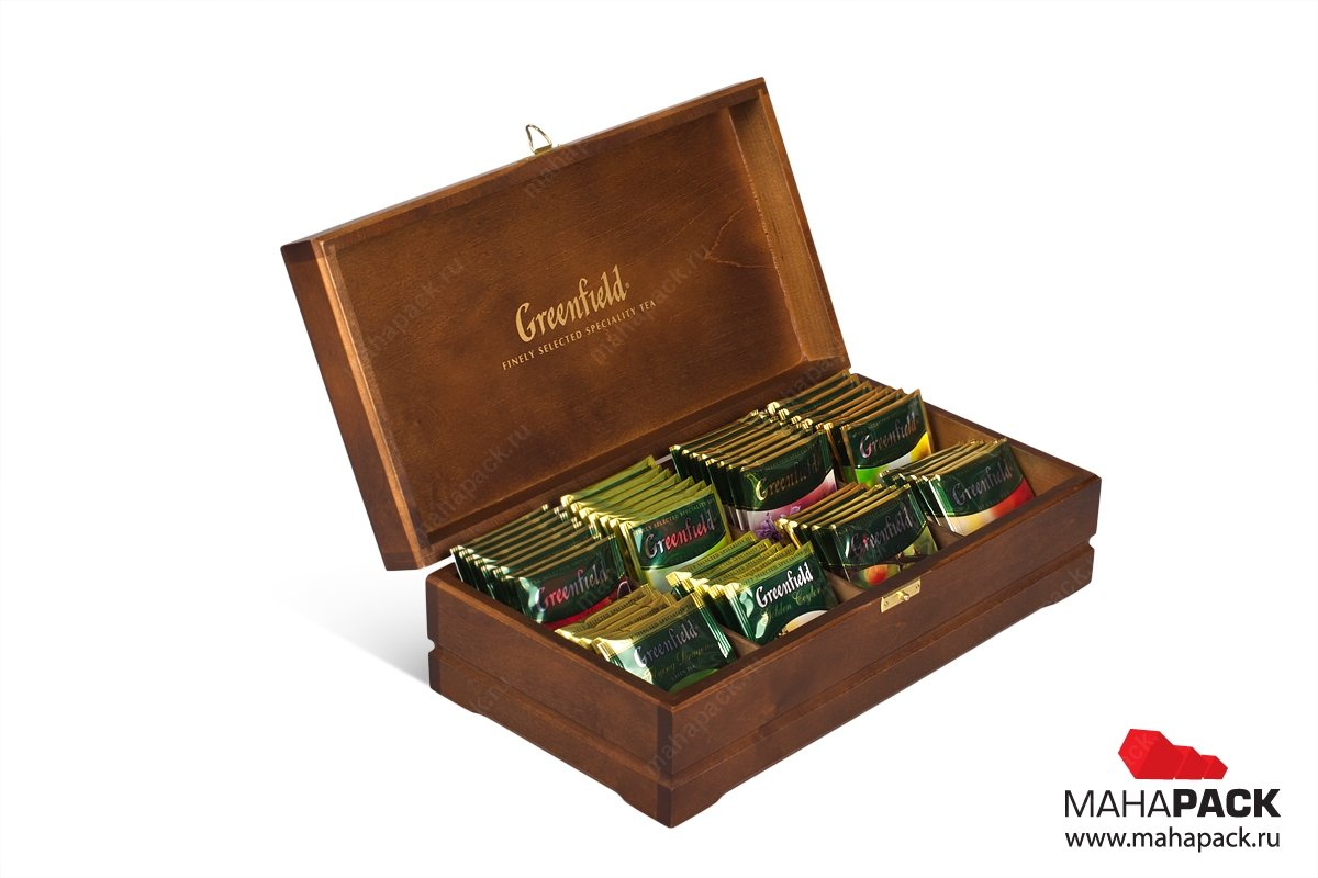 деревянная коробка-шкатулка для чая