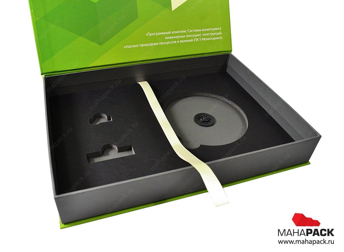 изготовление коробок с клапаном на магните
