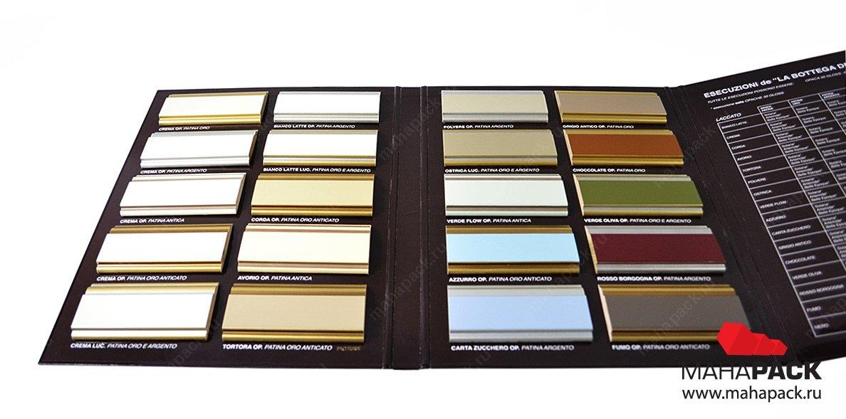 фирменная упаковка-каталог для образцов продукции