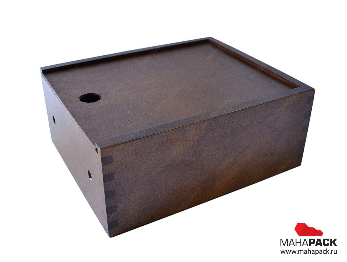 деревянная упаковка-пенал на заказ