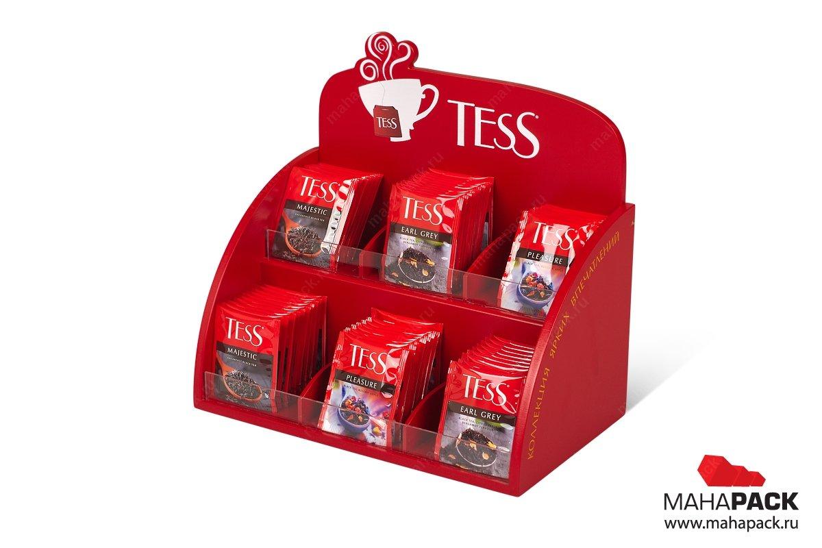 деревянная коробка презентер для чая