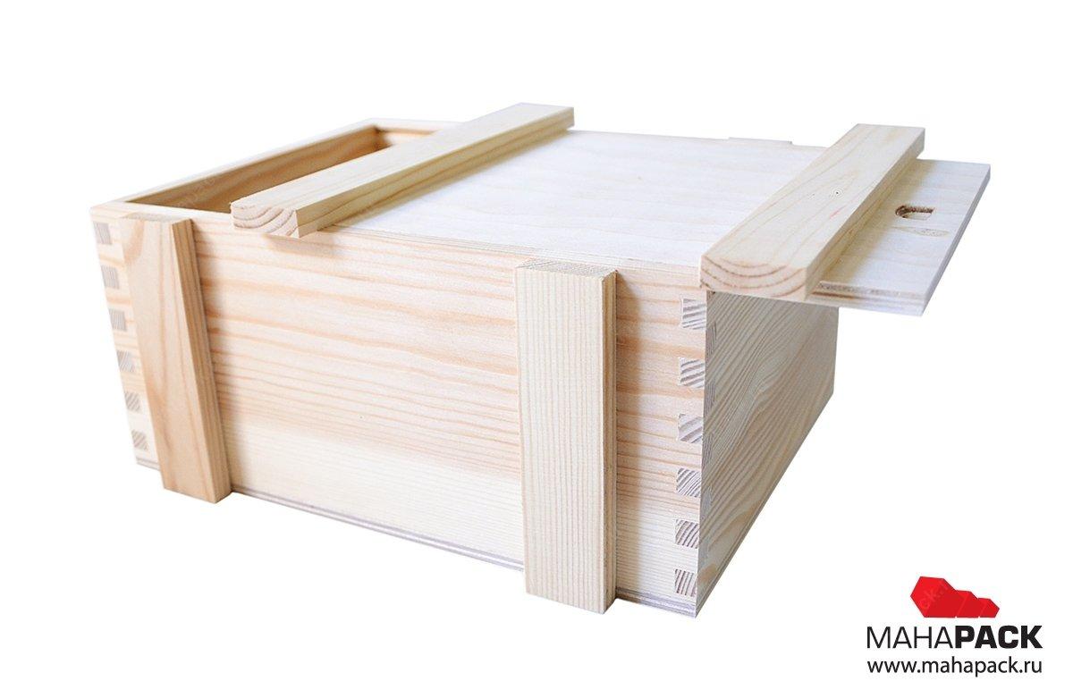 экологичная деревянная коробка-пенал для сувениров