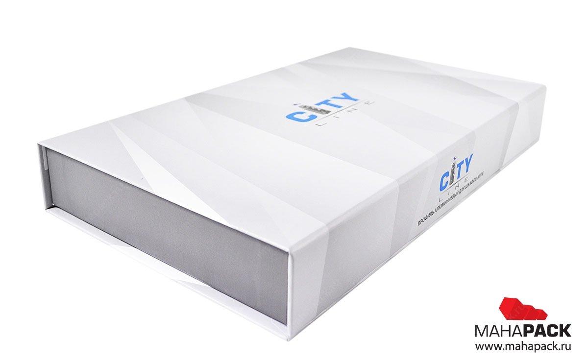кашированная коробка из переплетного картона на магнитах