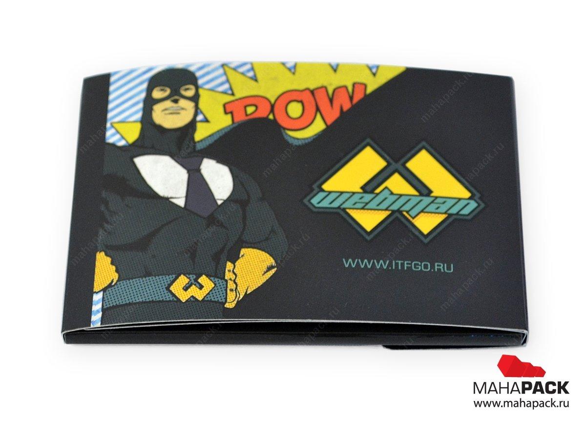 Картонная упаковка для банковских карт