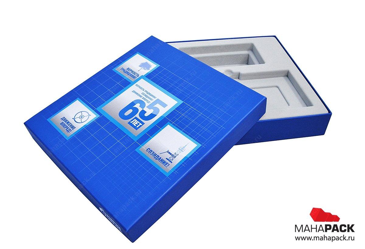 Подарочные коробки с флокированным ложементов для сувениров