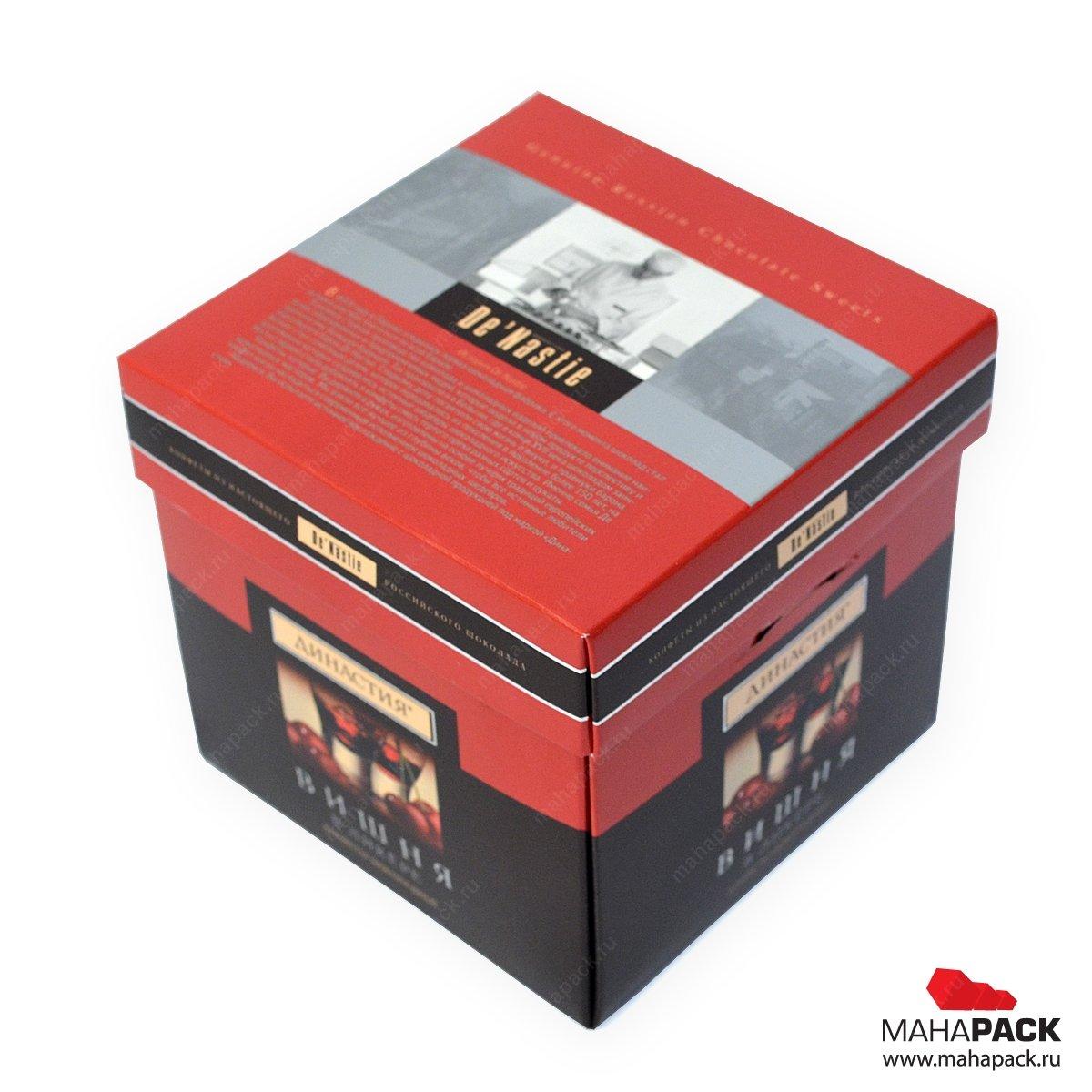 Самосборная коробочка-кубик для конфет