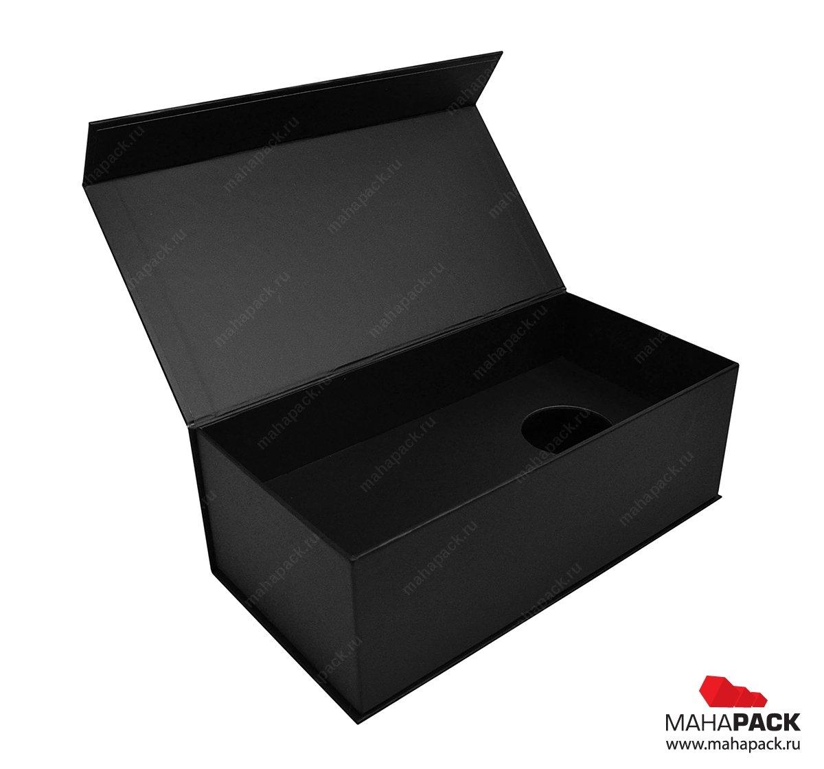 Коробки из переплётного картона с магнитной крышкой