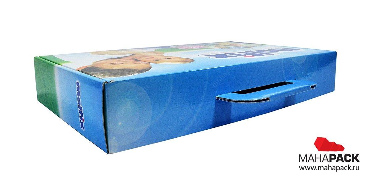 Самосборная коробка портфель для подарков