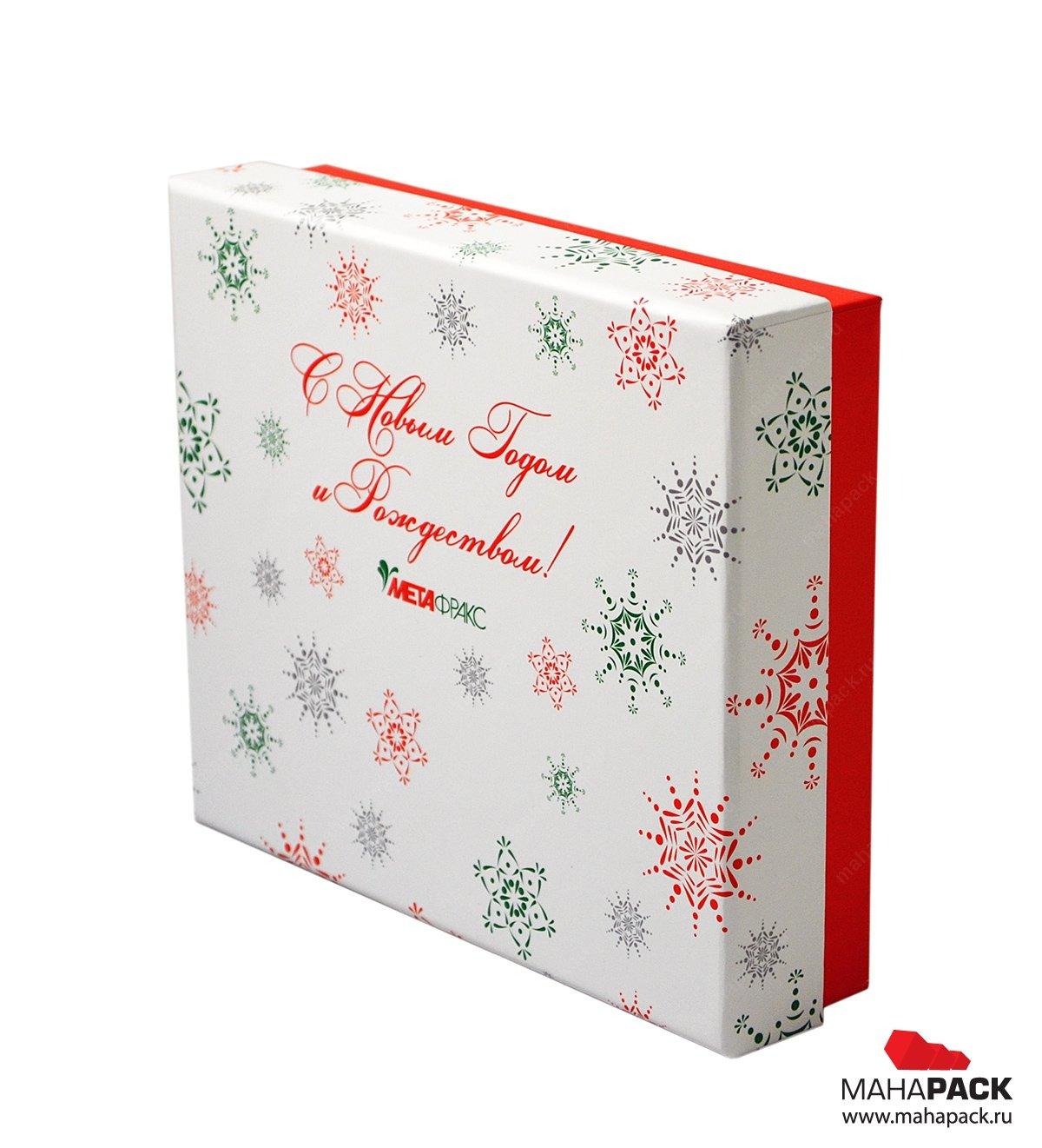 Подарочная коробка крышка-дно с печатью