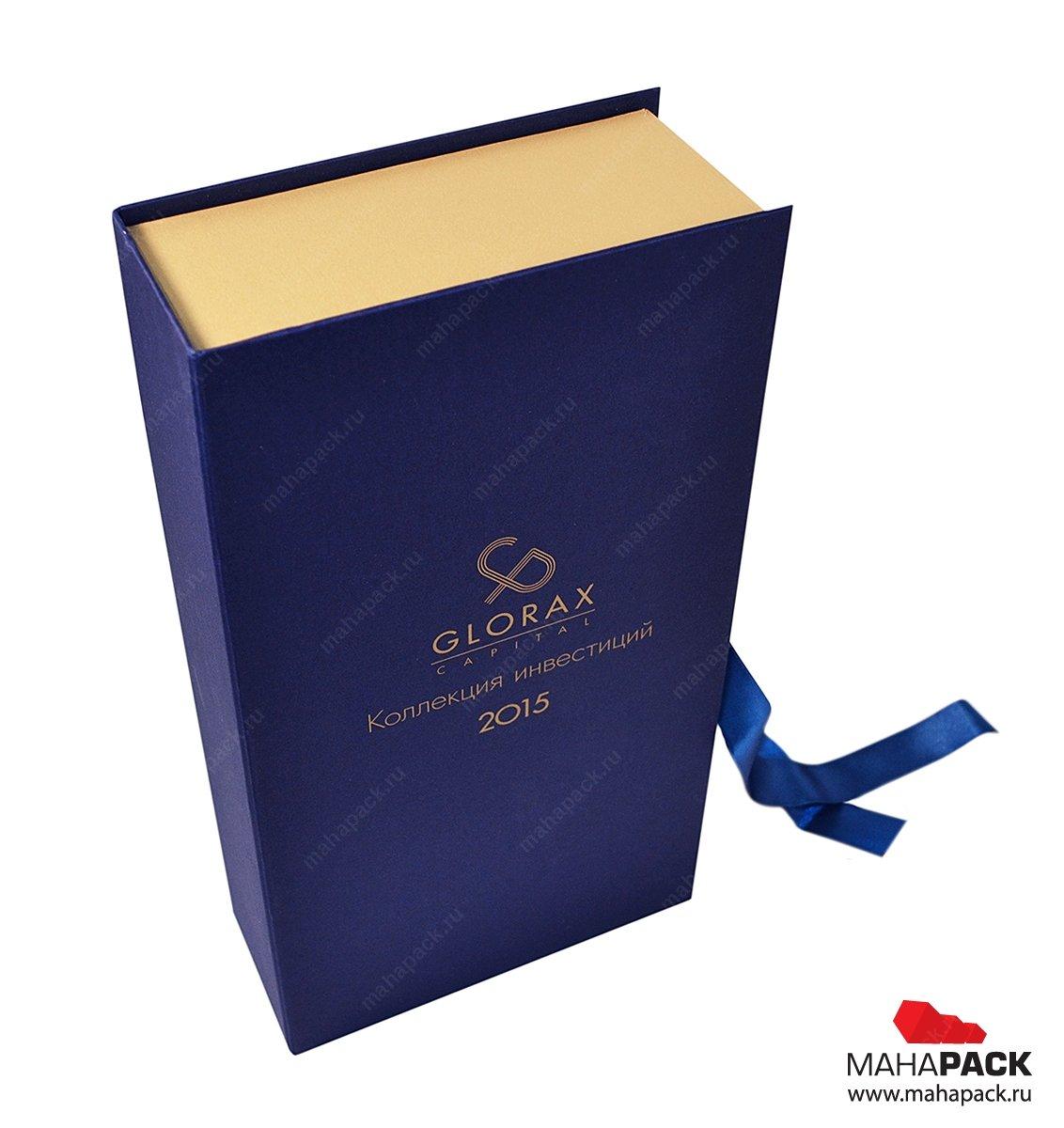 Кашированные коробки с ложементом из ткани