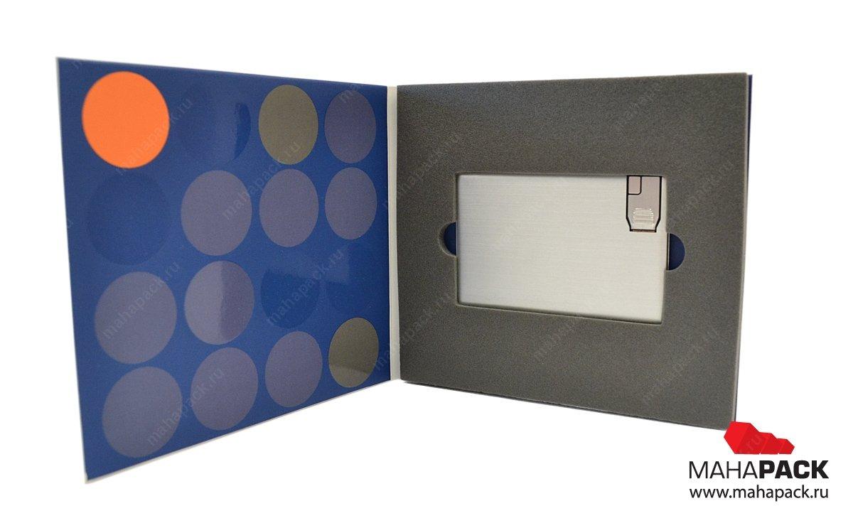 Флеш-пак для 1 флешки-карточки, вид изнутри.