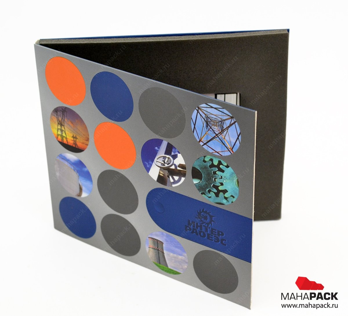 Упаковка для флешки-карточки, выборочный уф.лак на обложку
