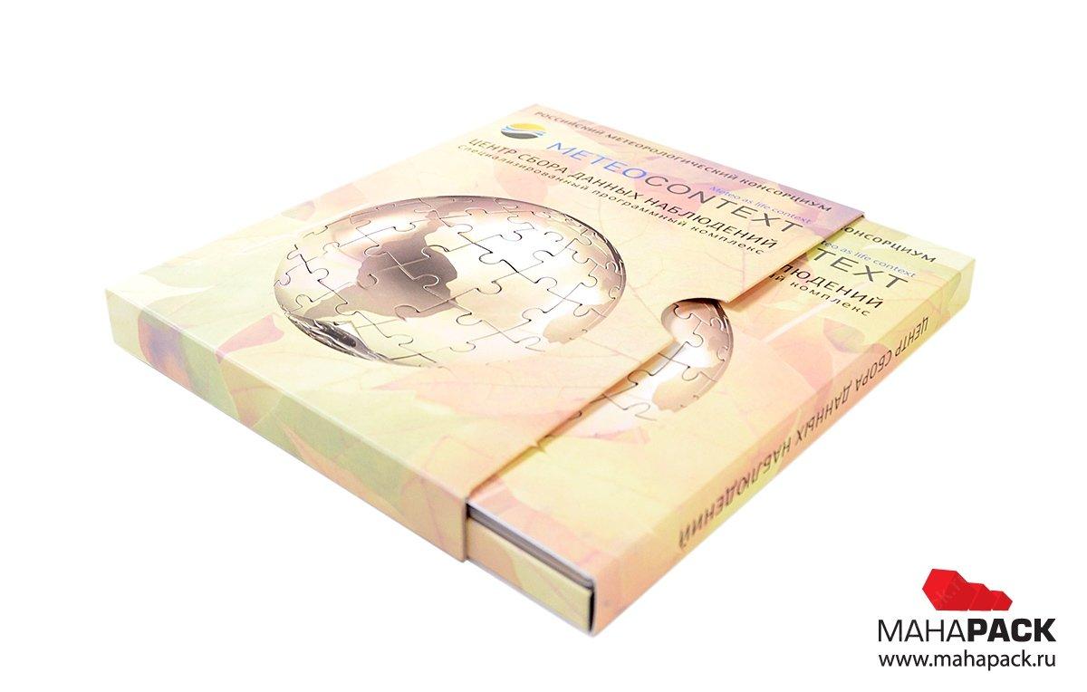 Картонная упаковка для флэшек на заказ