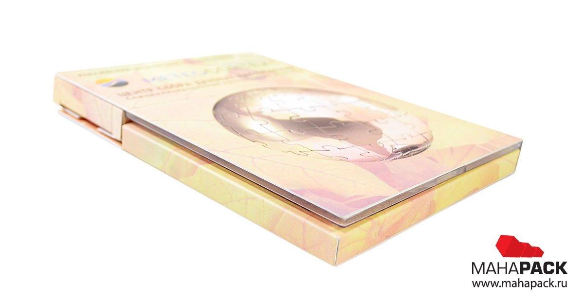 Картонная упаковка для флэшек под заказ