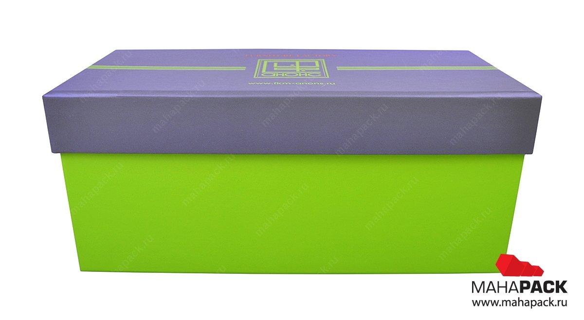 Кашированные коробки с крышкой под заказ