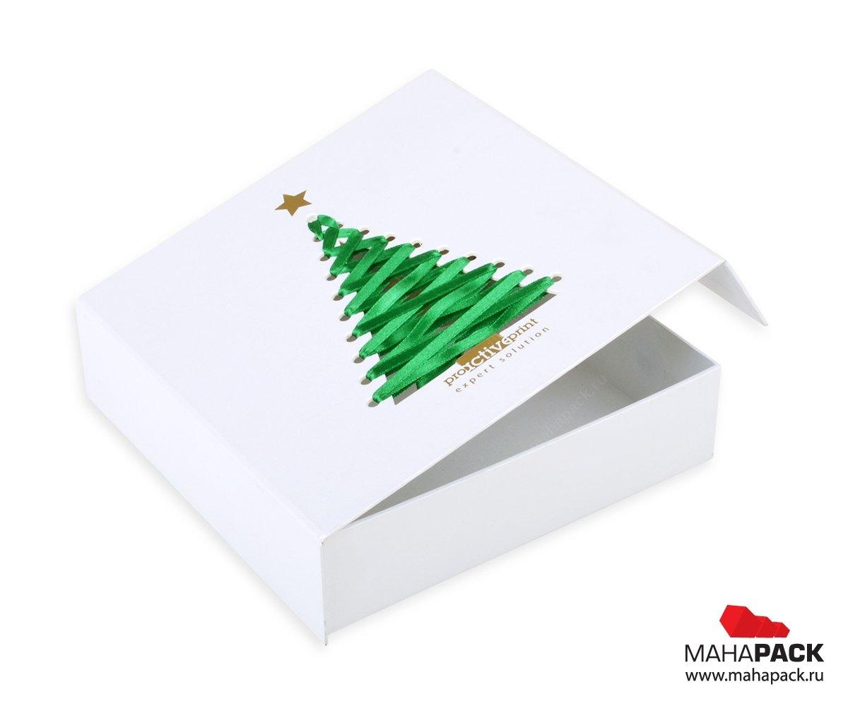 индивидуальная подарочная коробка с клапаном на магните