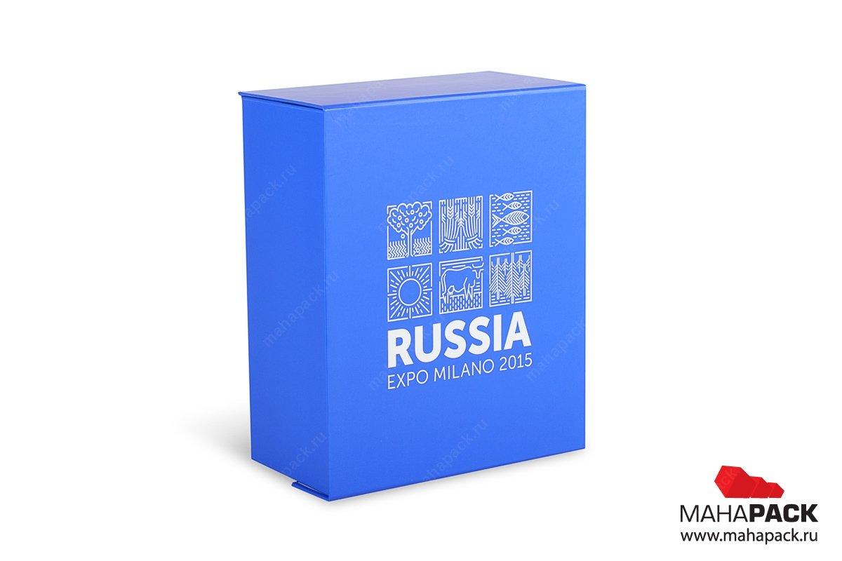 Кашированная коробка на магните для сувенирной посуды