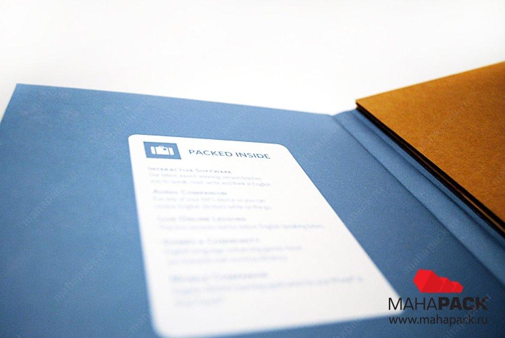 Упаковка для usb-флешки с ложементом из микрогофрокартона