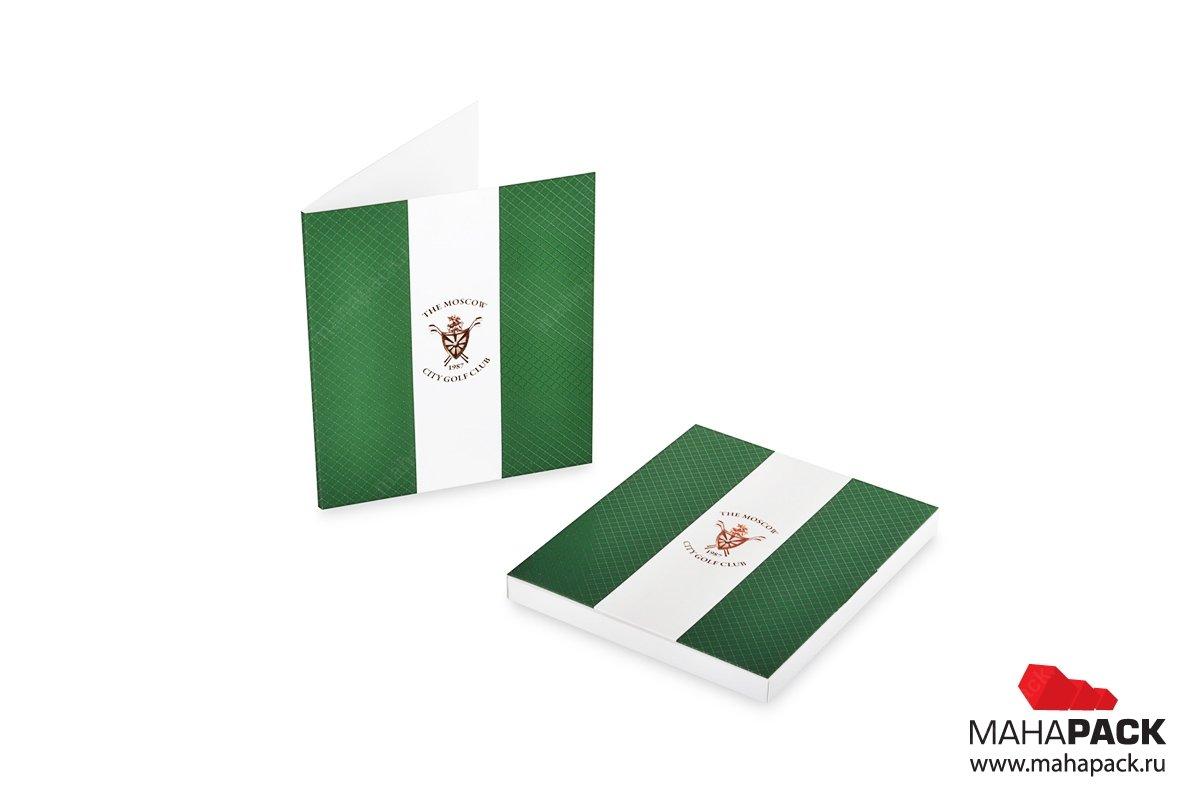 Упаковка для подарочной карты гольф-клуба
