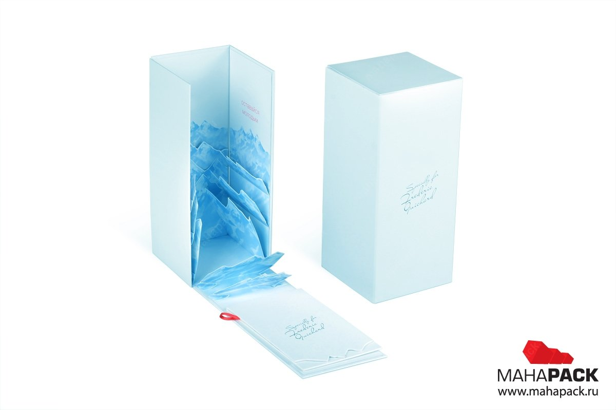 Изготовление современной кашированной упаковки по индивидуальному заказу