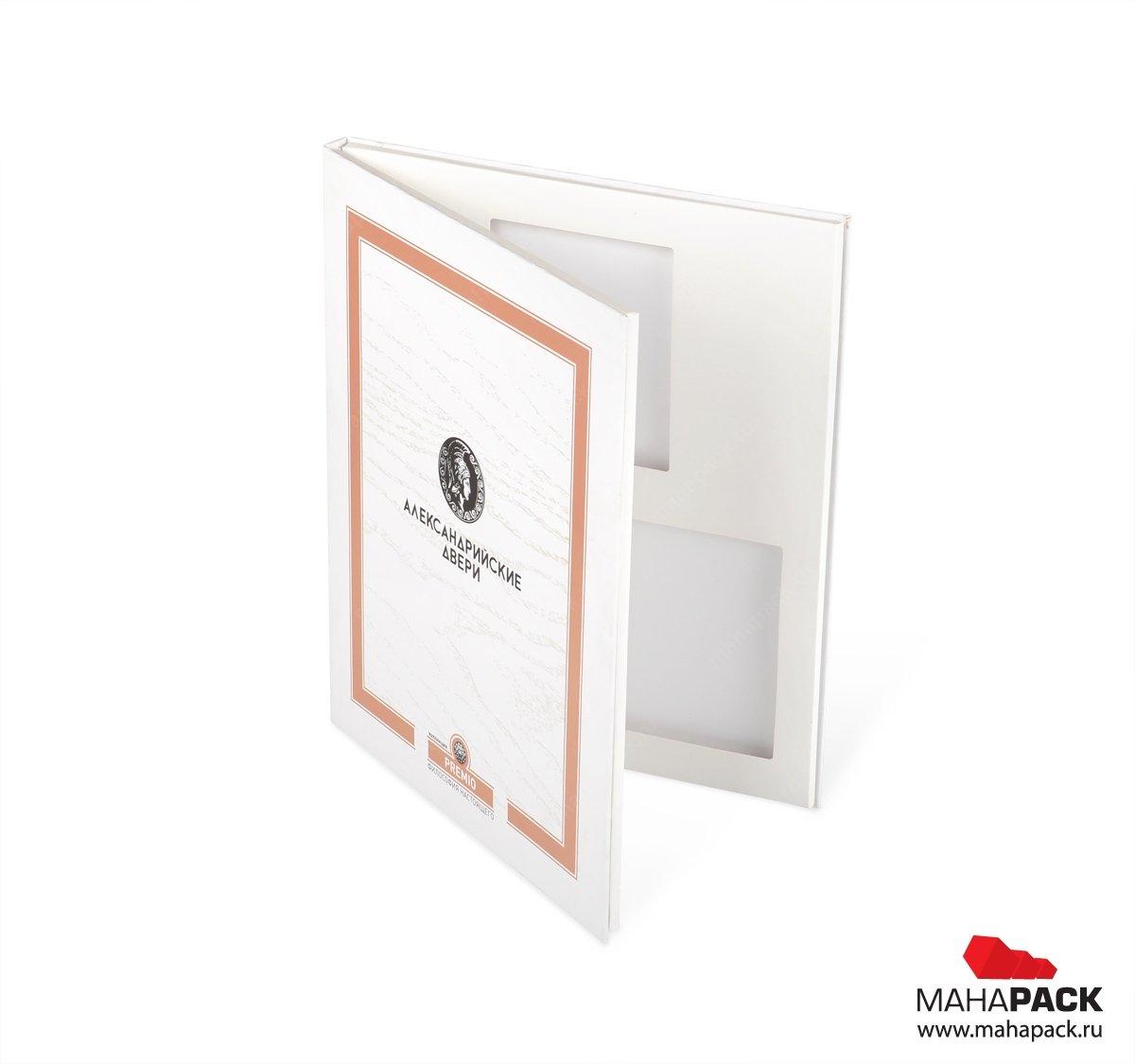 Папка с офсетной печатью для образцов продукции