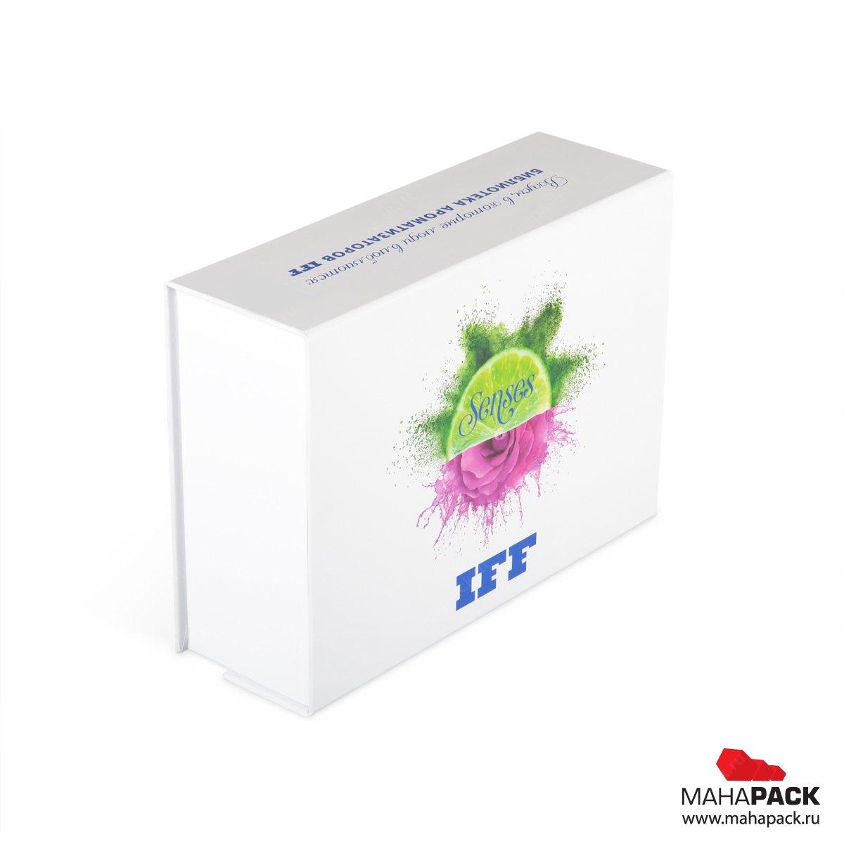 Кашированная коробка с магнитным клапаном на заказ