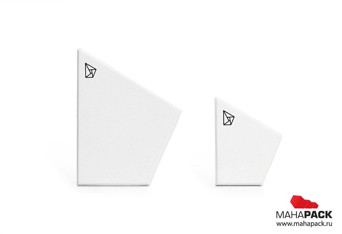 Фигурная коробка крышка-дно для ювелирных изделий