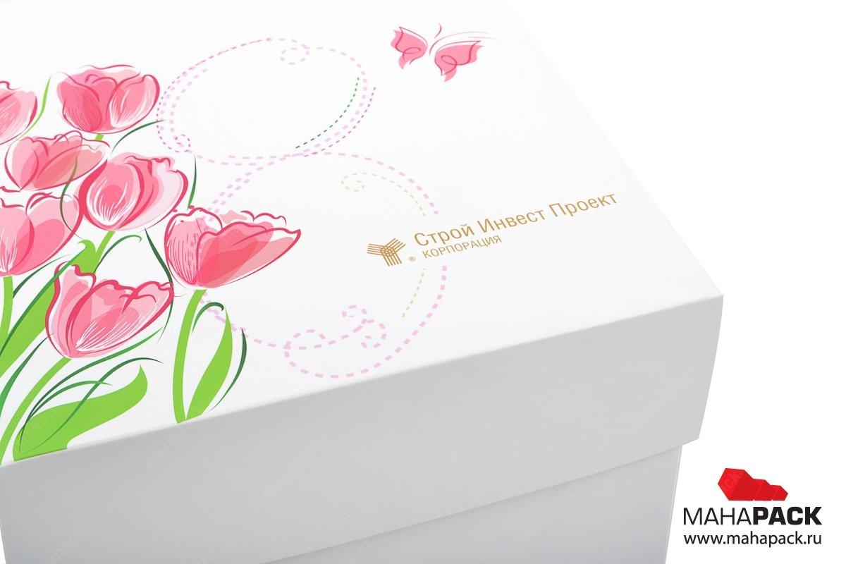 кашированная коробка-трансформер с логотипом