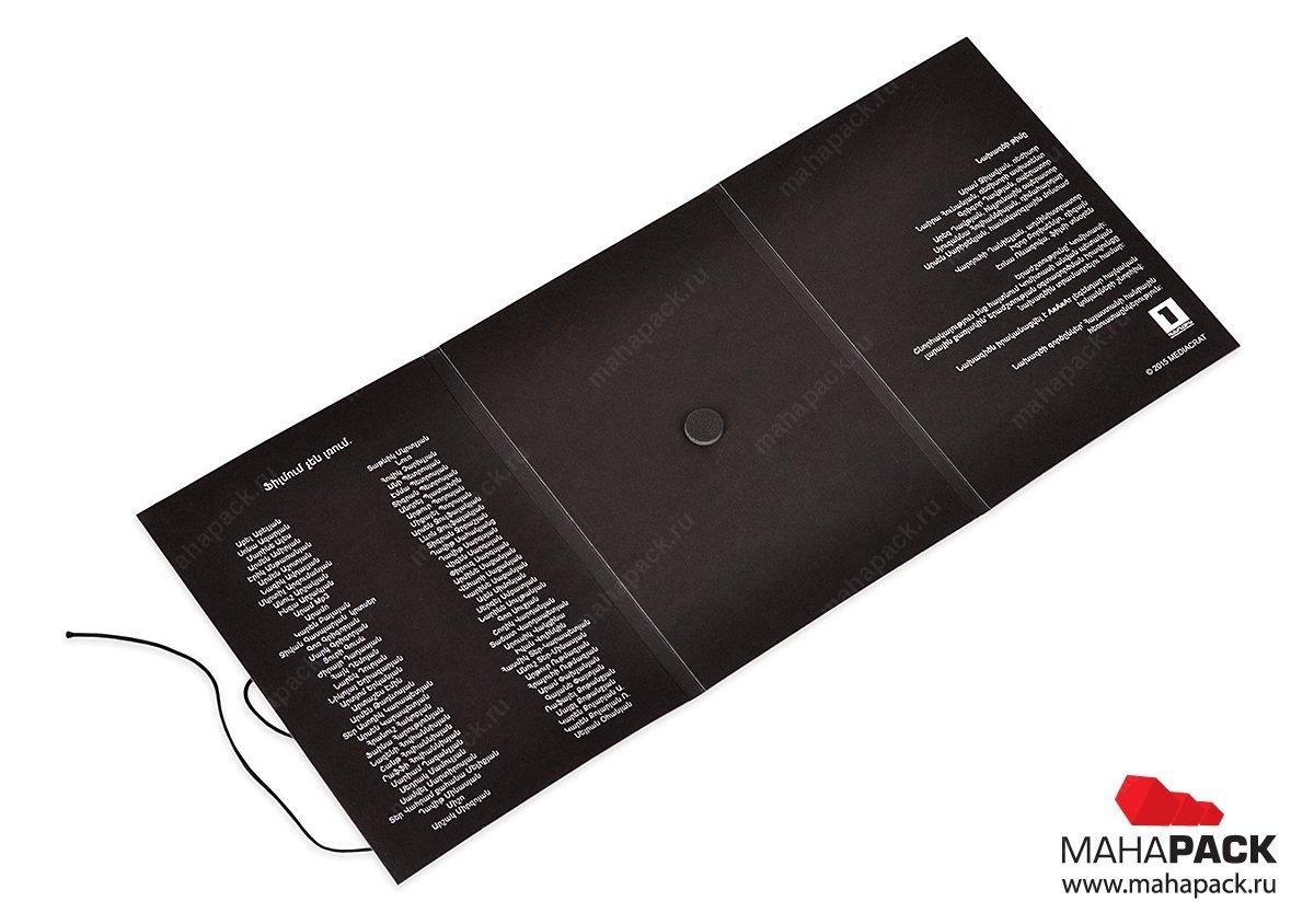 упаковка премиум класса для дисков из дизайнерского картона