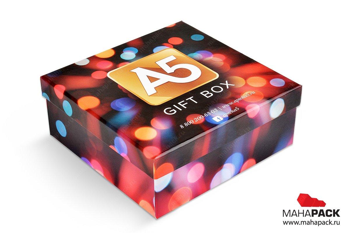 производство квадратной подарочной упаковки