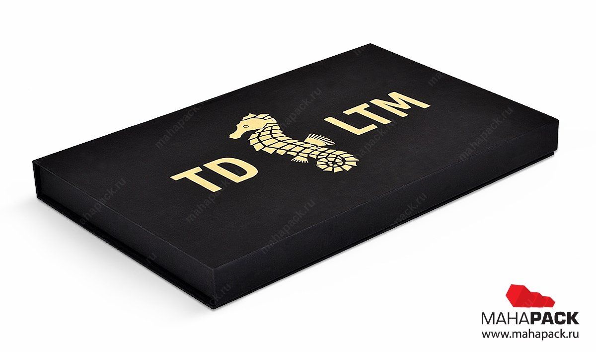 коробки с золотым тиснением на заказ