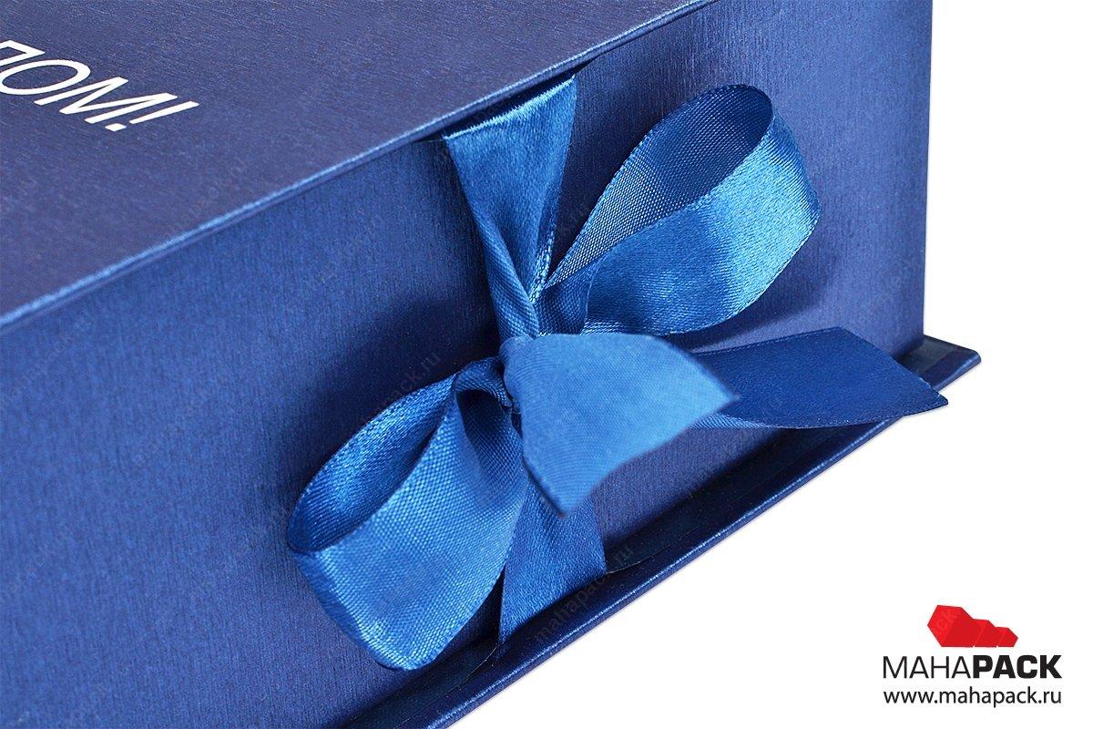 подарочная упаковка с лентами - разработка макета и производство