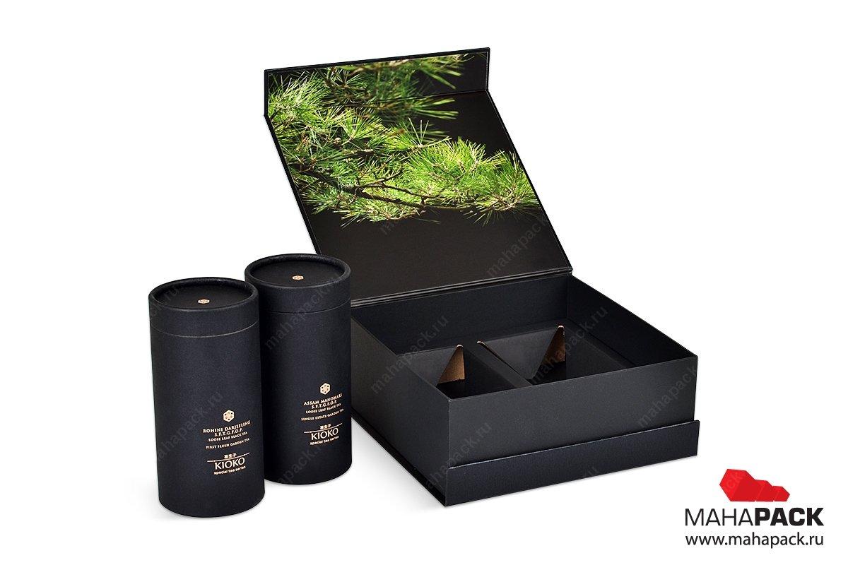 подарочная коробочка для двух банок чая