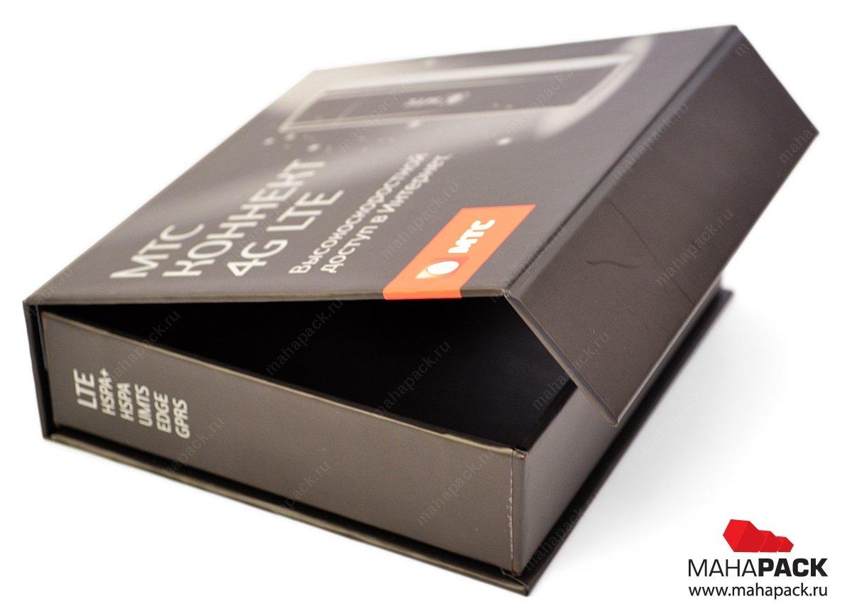 Индивидуальная коробка-книжка с клапаном на магните