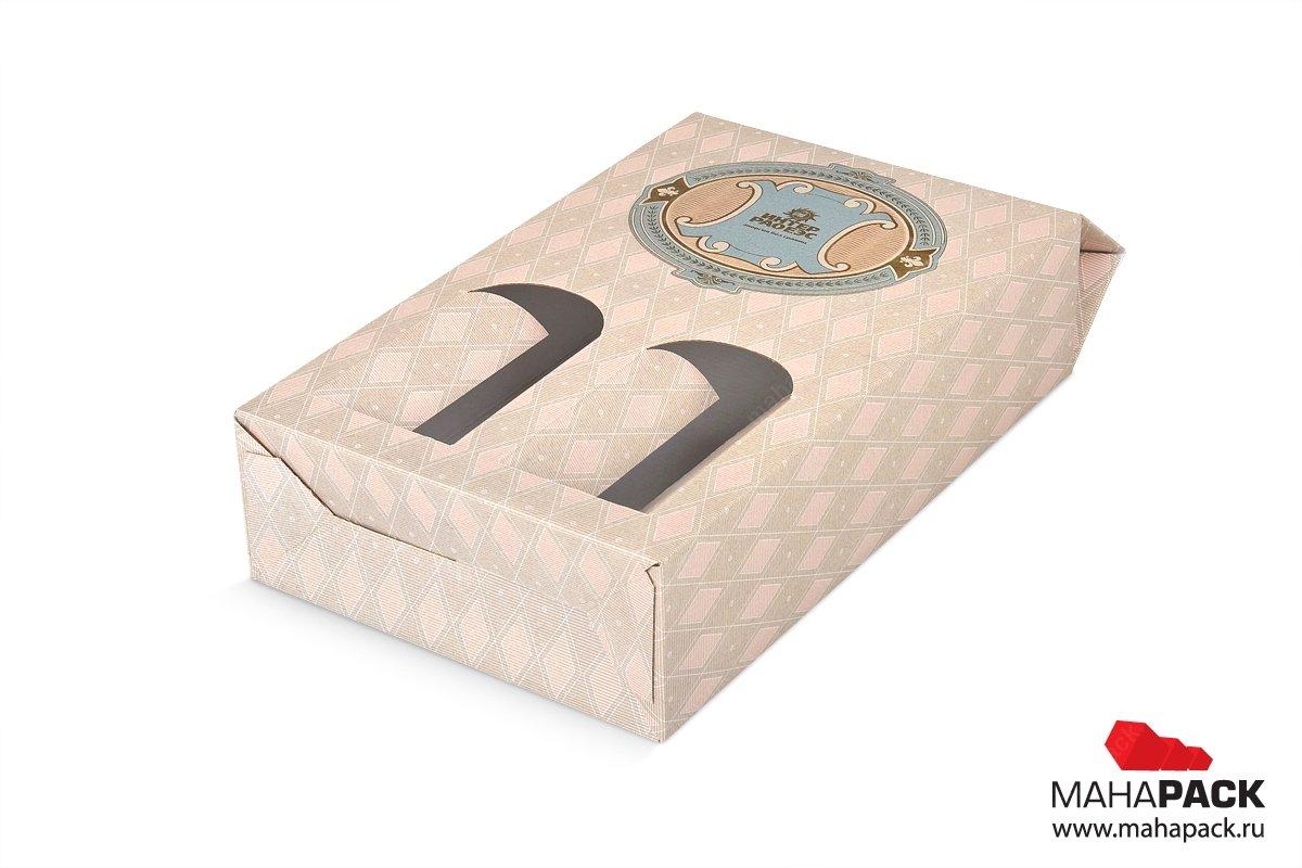 упаковка подарочная для сувенирного набора из двух бутылочек