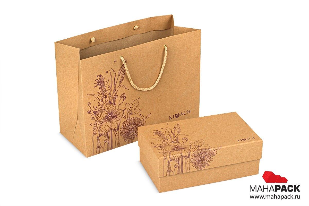 подарочные упаковки в пакете с ручками для корпоративного подарка
