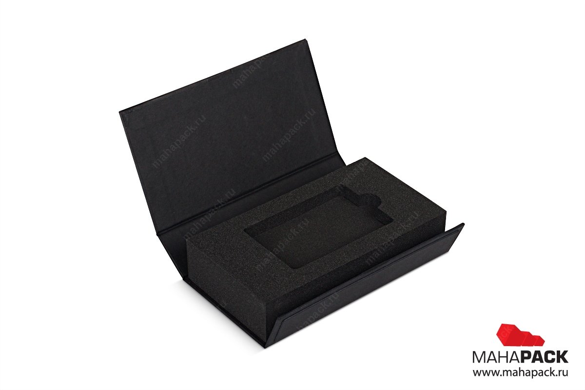 упаковка для пластиковой карты - коробка-книжка с изолоновым ложементом