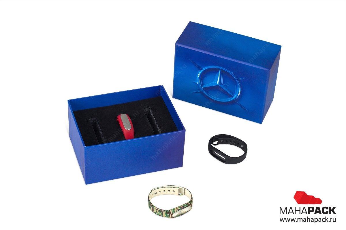 корпаративная ювелирная упаковка с ложементом для браслетов