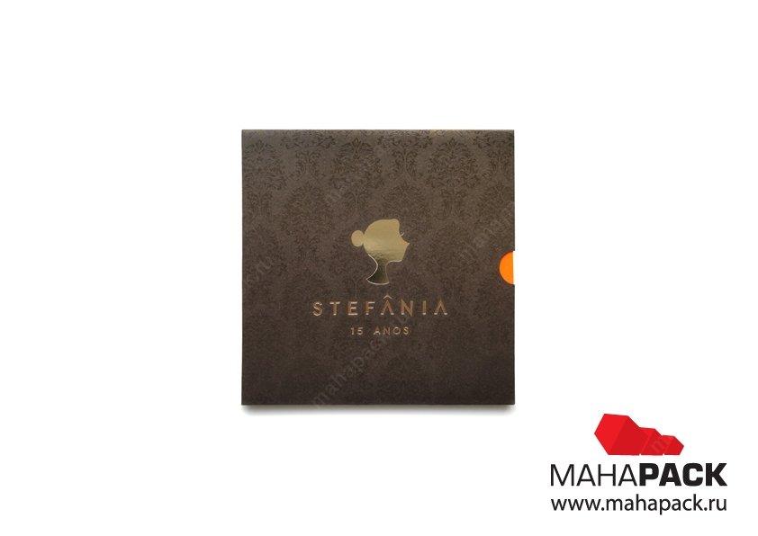 Креативная открытка-слайдер из дизайнерской бумаги