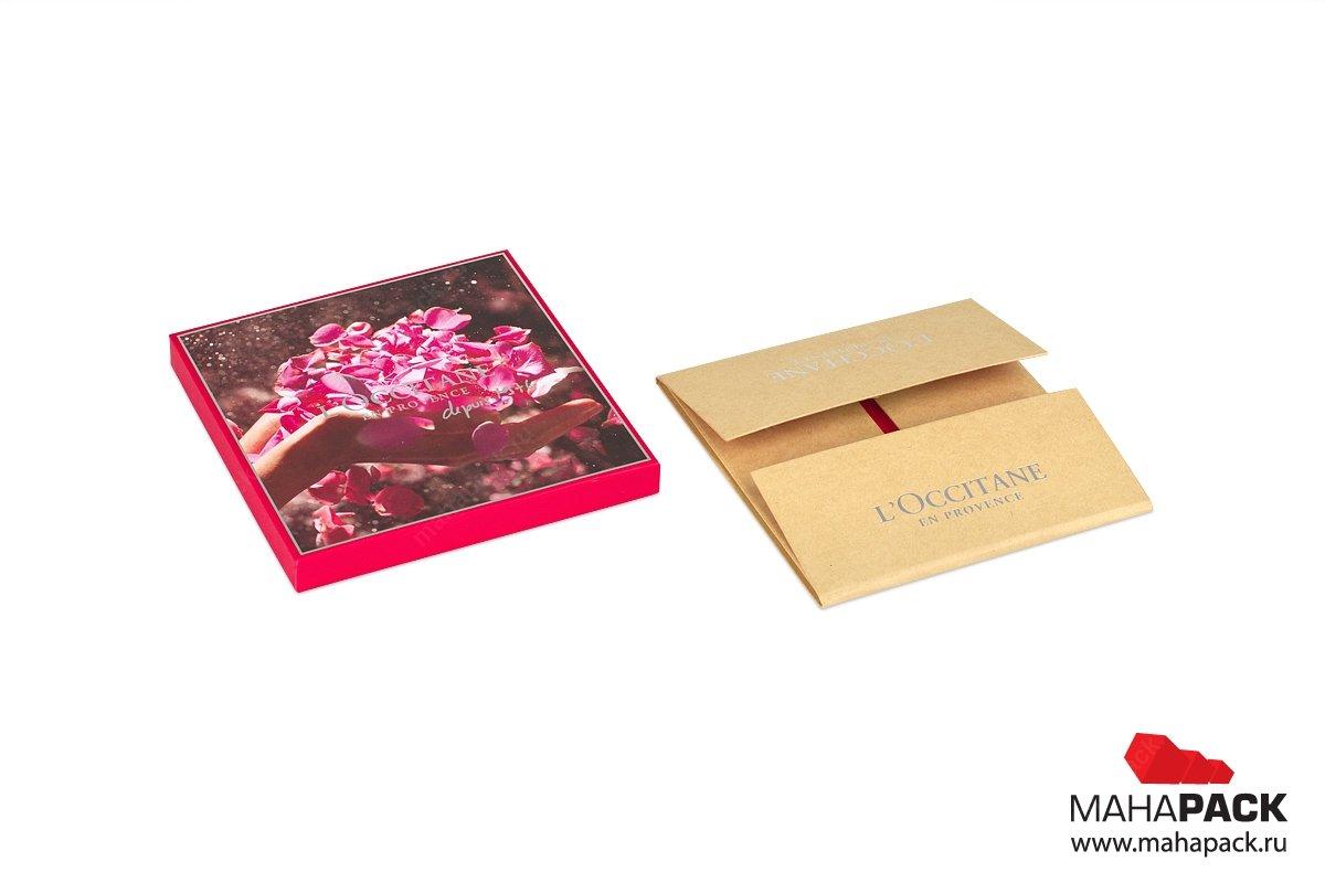 подарочная коробка крышка-дно для косметики