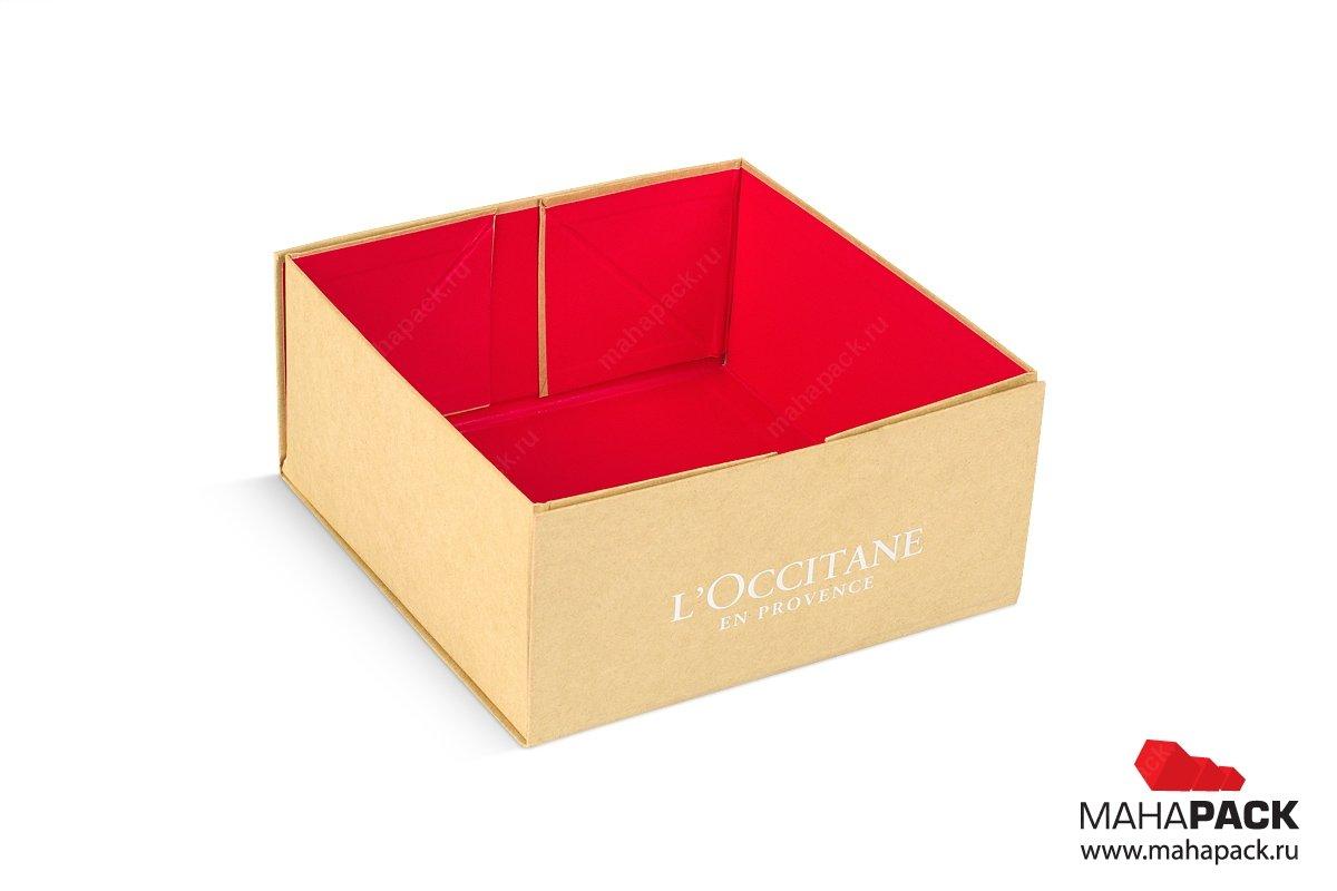 коробка крышка-дно для косметики в подарок